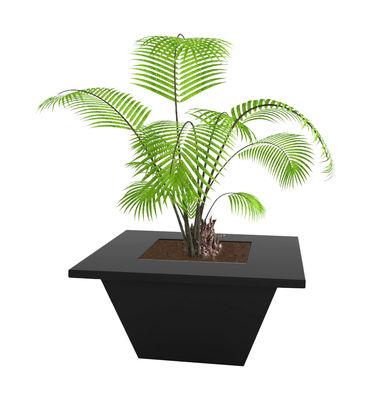 Jardin - Pots et plantes - Pot de fleurs Bench 80 x 80 cm - Slide - Noir - Polyéthylène