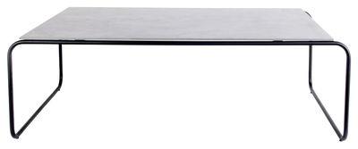 Tavolino basso Yoso Medium / 120 x 69 x H 39 cm - Cemento - XL Boom - Grigio,Nero - Metallo