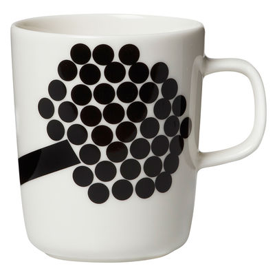Mug Hortensie / 25 cl - Marimekko rose,noir en céramique