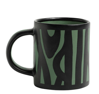 Mug Wood / Peint à la main - Hay vert foncé en céramique