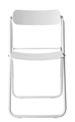 Mobilier - Chaises, fauteuils de salle à manger - Chaise pliante Con.Fort / Aluminium - Opinion Ciatti - Blanc - Aluminium peint