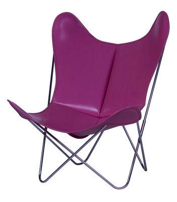 Chaise AA Butterfly / Cuir - AA-New Design rose en cuir
