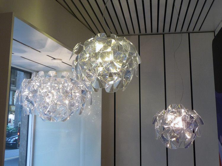 Suspension hope 61 cm 61 cm transparent luceplan - Luminaire interieur design ...