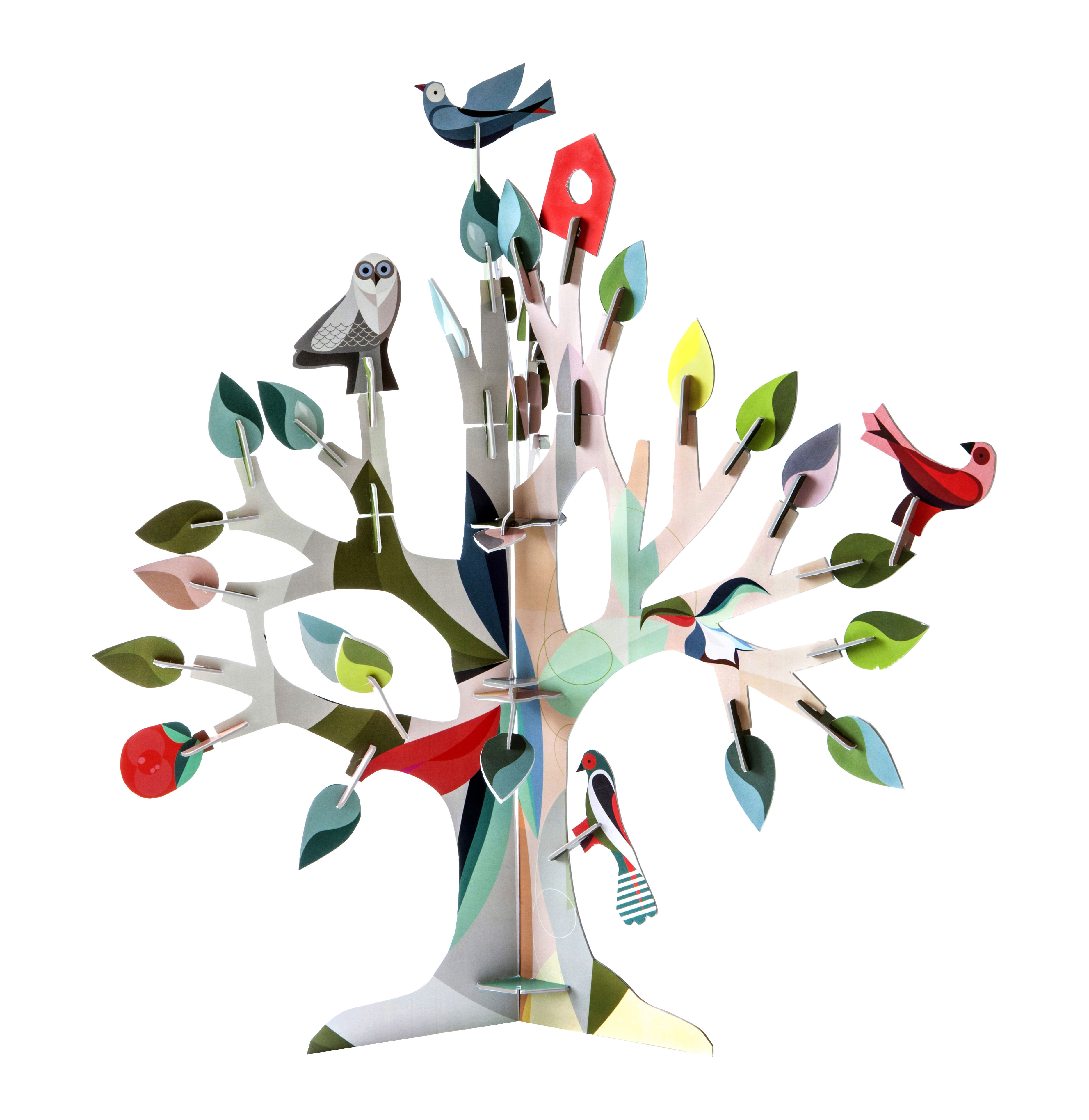 figurine construire totem arbre r ves carton arbre multicolore studio roof made in. Black Bedroom Furniture Sets. Home Design Ideas
