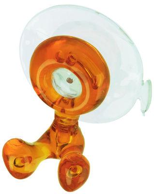 Porte brosse dents tommy avec ventouse orange transparent koziol - Porte brosse a dent ventouse ...