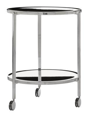 Tavolino Tambour - H 65 cm - Su ruote di Magis - Alluminio lucido - Metallo