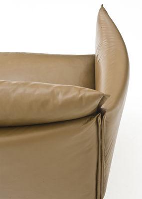 canap droit gentry l 240 cm cuir cuir cir marron pieds acier chrom moroso. Black Bedroom Furniture Sets. Home Design Ideas