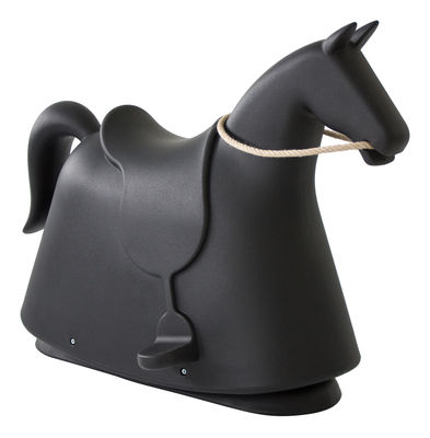Foto Cavallo a dondolo Rocky di Magis Collection Me Too - Nero - Materiale plastico