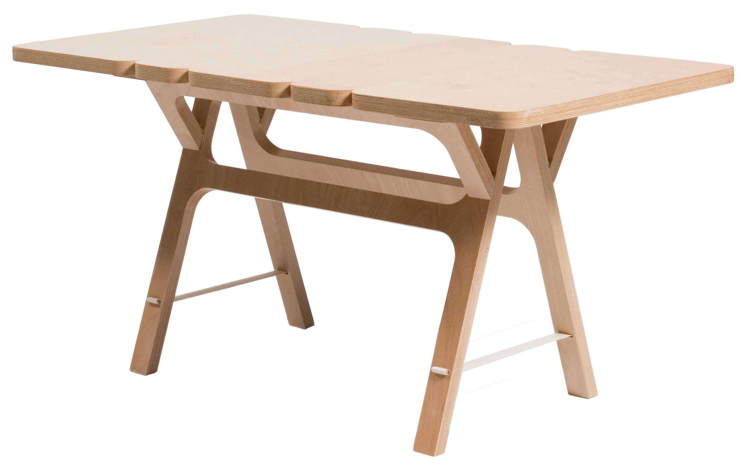 Table instant 140 x 70 cm h tre naturel moustache for Table 140 x 70