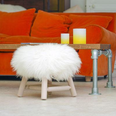 Fab Design Möbel moumoute small h 27 cm echtes schaffell holz fab design hocker