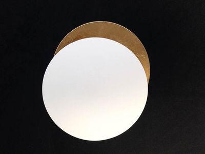 Applique Lederam W / LED - 2 disques Ø 17 cm - Catellani & Smith blanc,or en métal