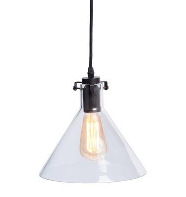 Luminaire - Suspensions - Suspension Kiev / Verre & métal - It's about Romi - Transparent / Noir - Acier peint, Verre
