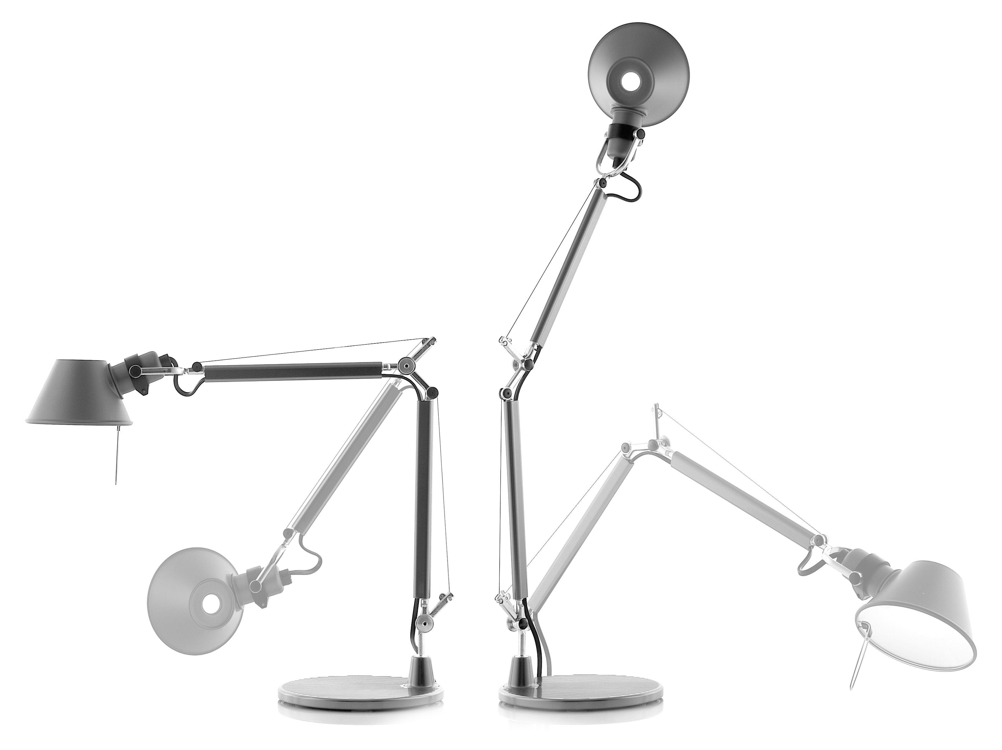 lampe de table tolomeo micro led aluminium artemide. Black Bedroom Furniture Sets. Home Design Ideas
