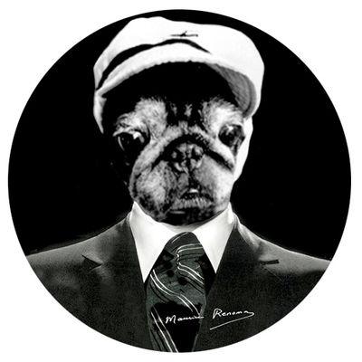 tabouret tam tam renoma mythologie chien chien stamp edition. Black Bedroom Furniture Sets. Home Design Ideas