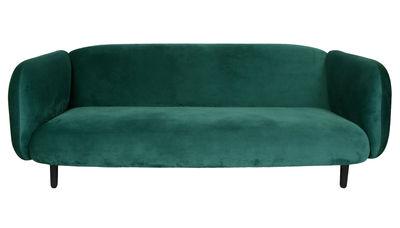 Moïra Velours Sofa / 3-Sitzer - L 204 cm - ENOstudio - Entengrün