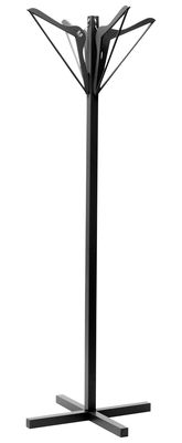 Furniture - Teen furniture - Porte-cintre Coat stand by La Corbeille - Black - Wood