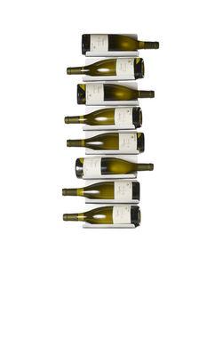 Image of Portabottiglie Ptolomeo Vino - / A parete - H 75 cm di Opinion Ciatti - Bianco brillante - Metallo