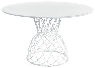 Outdoor - Garden Tables - Re-trouvé Garden table - Ø 130 cm by Emu - White - Steel