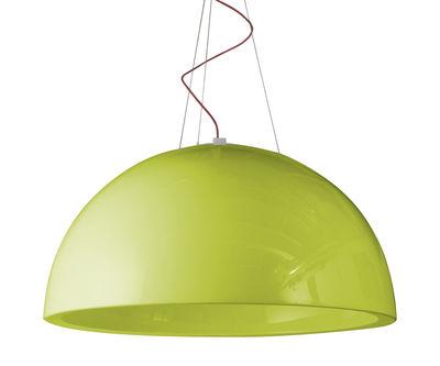 Foto Sospensione Cupole - versione laccata - Ø 120 cm - LED di Slide - Laccato verde - Materiale plastico
