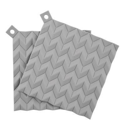 Dessous de plat Hold-on / Silicone - Set de 2 - Stelton gris en matière plastique