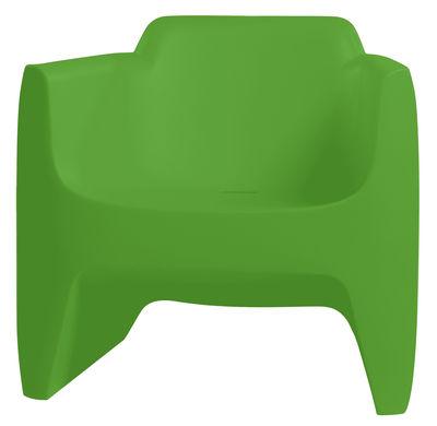 Foto Poltrona bassa Translation di Qui est Paul ? - Verde - Materiale plastico