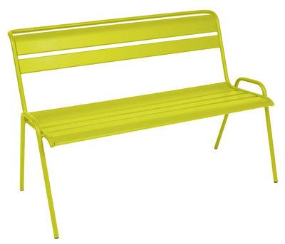 Foto Panca con schienale Monceau / da 2 a 3 posti - L 116 cm - Fermob - Verbena - Metallo