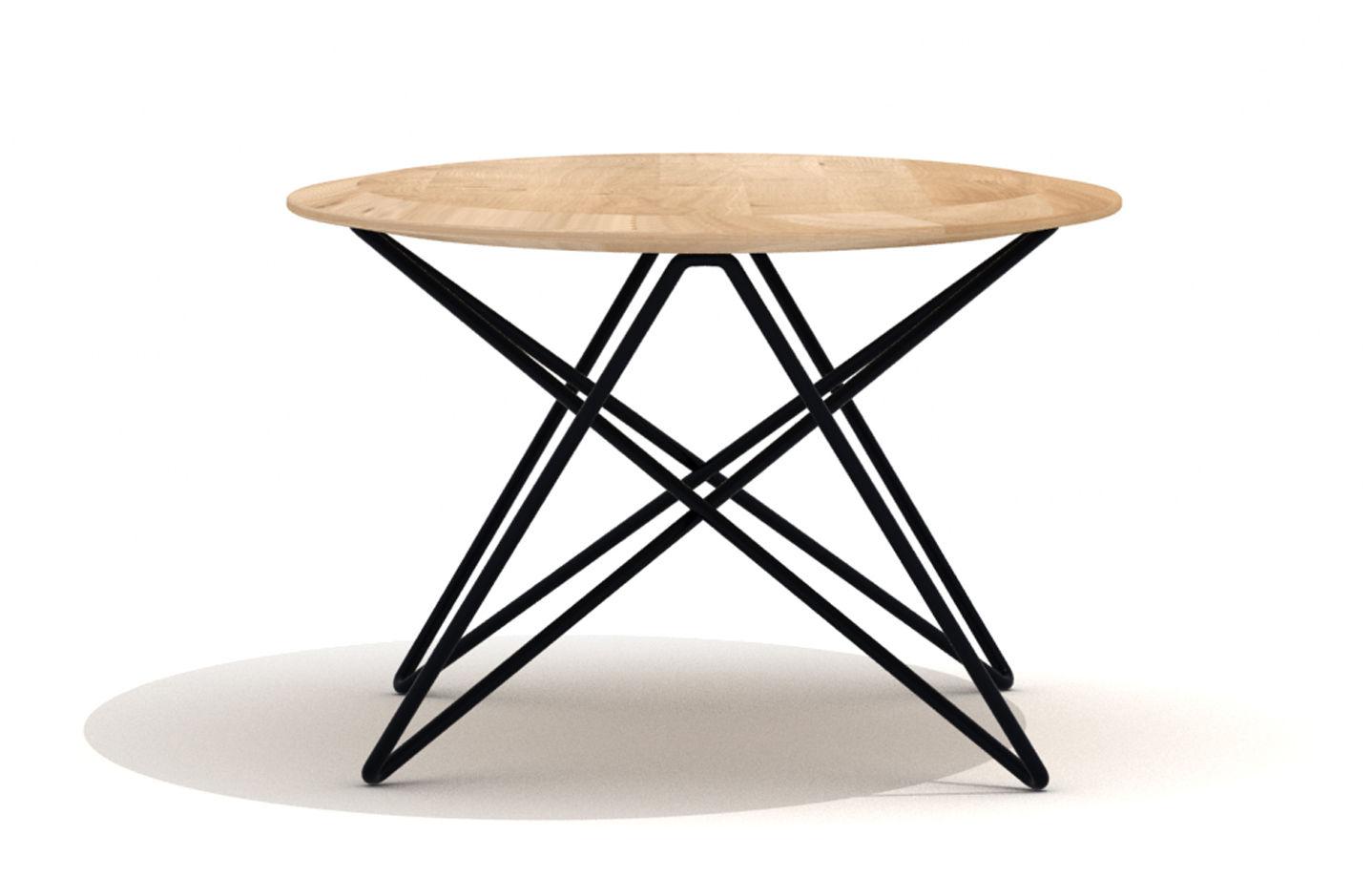 Orb Coffee Table L 130 Cm Natural Wood Black Leg By Universo  # Meuble Tv Universo Positivo