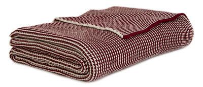 Plaid Roccamare / 130 x 170 cm - ENOstudio rouge marsala en tissu