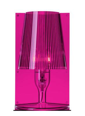 Foto Lampada da tavolo Take - Kartell - Rosa fucsia - Materiale plastico