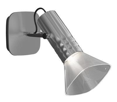 Foto Applique Fiamma / LED - H 16 cm - Artemide - Grigio metallizzato - Metallo