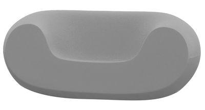 Poltrona bassa Chubby di Slide - Antracite - Materiale plastico