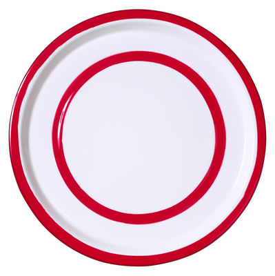 Assiette Basic Medium Ø 26,5 cm Variopinte rouge en métal