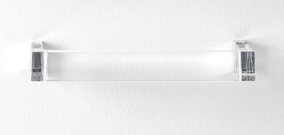 Porte serviettes Rail L 30 cm Kartell cristal en matière plastique