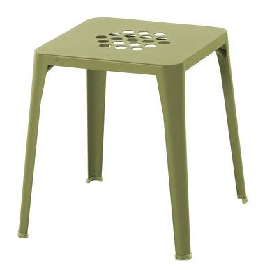 Foto Sgabello impilabile Pattern - 43 x 43 cm di Emu - Verde - Metallo