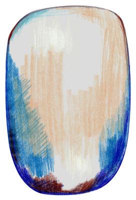Tapis Scribble / 300 x 200 cm - Moooi Carpets bleu,gris,beige en tissu
