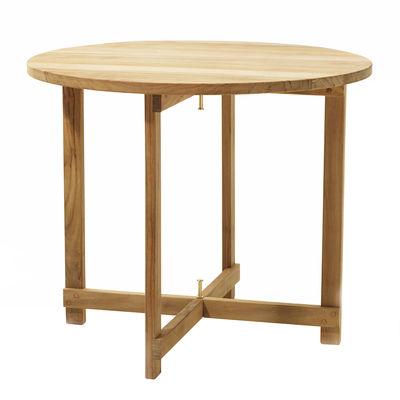 Mobilier - Tables basses - Table basse Kryss /Pliante - Ø 60 x H 50 cm - Skargaarden - Teck - Teck massif