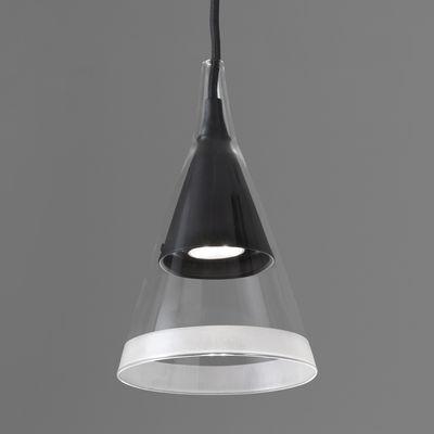 Luminaire - Suspensions - Suspension Vigo / LED - H 40 cm - Artemide - Noir - Métal teinté, Verre soufflé