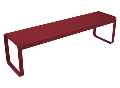 Banc Bellevie / L 161 cm - 4 places - Fermob piment en métal