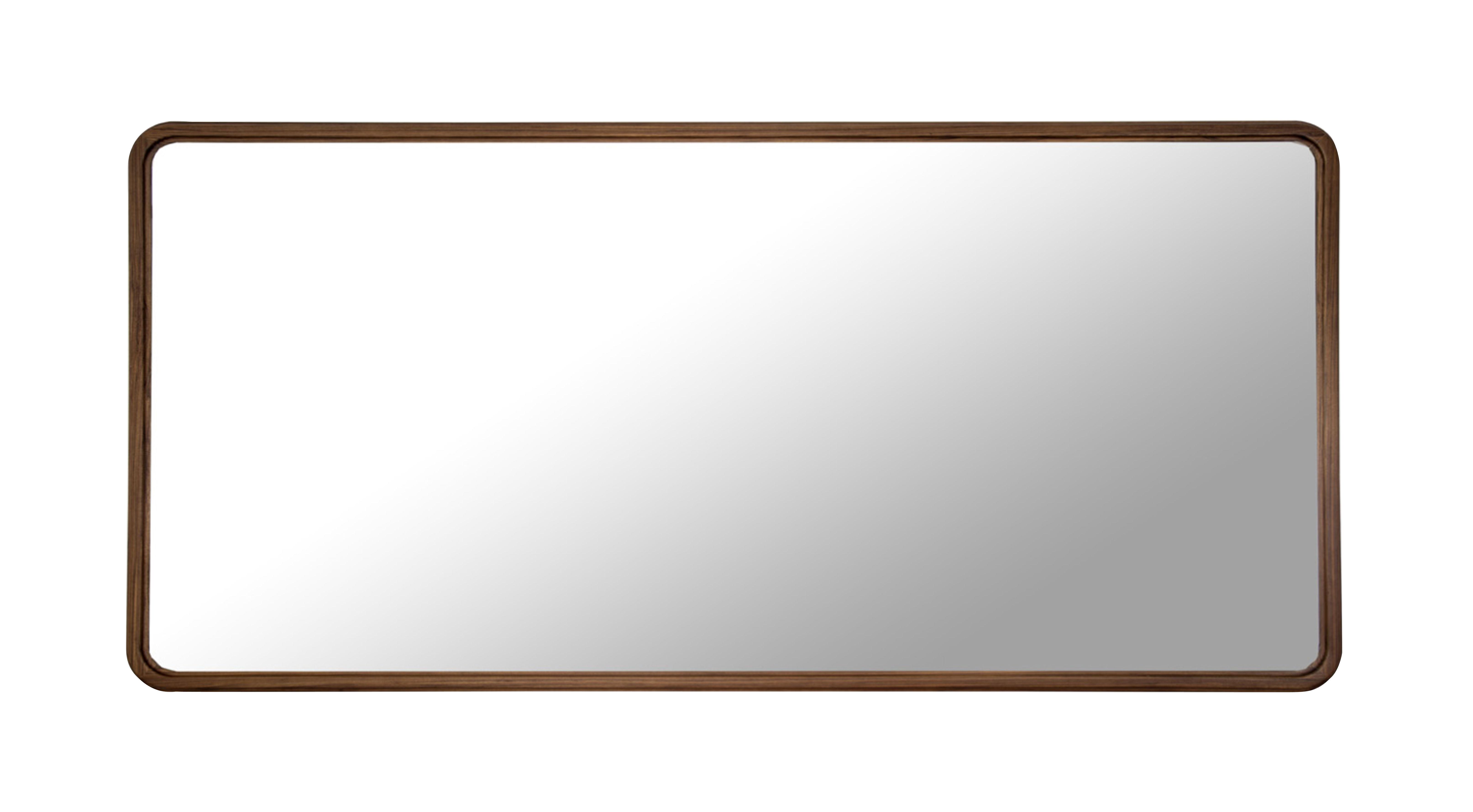 Haussmann wall mirror walnut 200 x 100 cm walnut by for Miroir 200x100