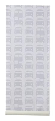 Papier peint Rush Hour / 1 rouleau - Larg 53 cm - Ferm Living gris,gris clair en papier