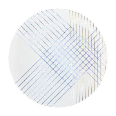 Assiette à dessert Mix and Match Gordes Ø 21 cm Th Manufacture blanc,or,bleu cobalt en céramique