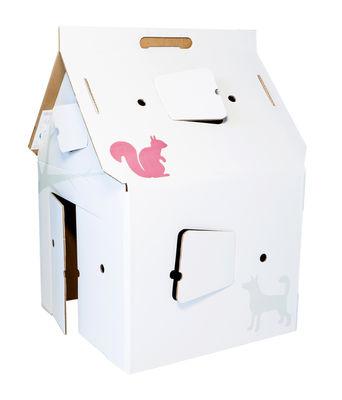 Mobilier - Mobilier Kids - Cabane Play! Cabana Déco / Carton - studio ROOF - Blanc / Motifs colorés - Carton récyclé