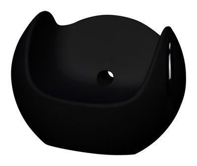 Foto Rocking chair Blos - versione laccata di Slide - Laccato nero - Materiale plastico