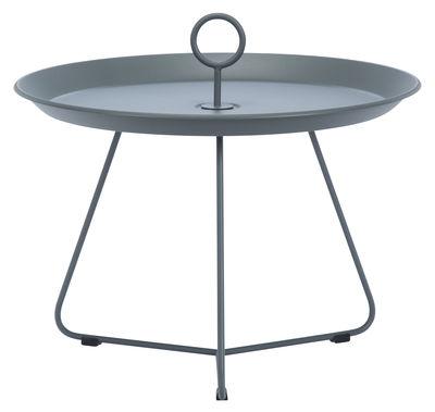 Tavolino basso Eyelet Medium / Ø 60 x H 43,5 cm - Houe - Grigio scuro - Metallo