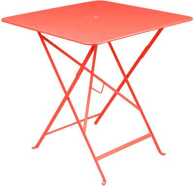 Foto Tavolo pieghevole Bistro - 71 x 71 cm / Pieghevole - Foro per parasole di Fermob - Cappuccino - Metallo