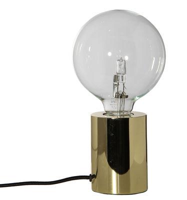 Luminaire - Lampes de table - Lampe de table Bristol / Laiton - Frandsen - Laiton / Câble noir - Métal, Tissu