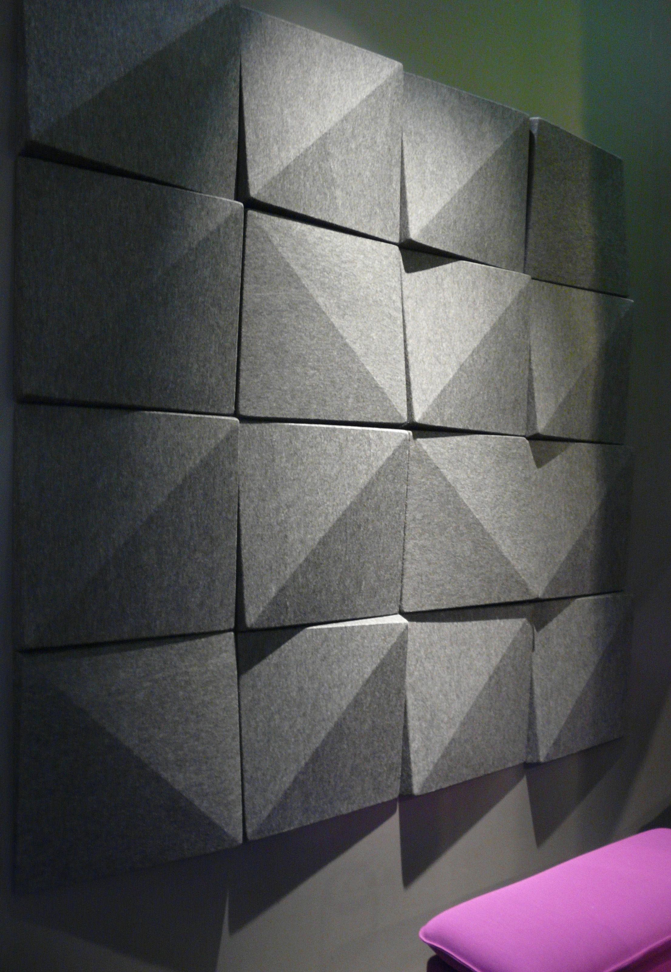 Panneau Acoustique Mural Soundwave Bella Gris Anthracite