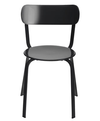 Furniture - Chairs and high armchairs - Stil Stacking chair - Metal by Lapalma - Black lacquered metal - Lacquered metal
