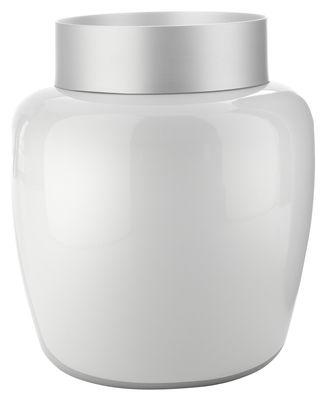 Dekoration - Vasen - Sevres Vase H 55 cm - Serralunga - Weiß matt - eloxiertes Aluminium, Polyäthylen