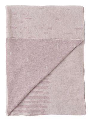 Plaid Rain / Laine - 190 x 130 cm - Menu nude en tissu